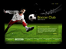 Soccer club VideoAdmin flash templates
