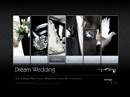 Dream wedding VideoAdmin flash templates