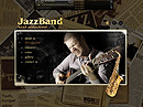 JazzBand - VideoAdmin flash templates, Band website templates