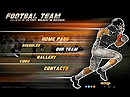 Footbal team - VideoAdmin flash templates, Video web sharing  flash site design