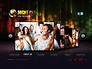 Night Club - VideoAdmin flash templates, Video web sharing  flash site design